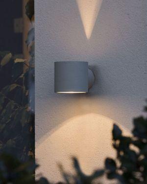 Konstsmide Modena Grå Round Vägglampa