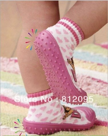 Baby boy/girl socks, baby sock shoes, non slip socks rubber soled shoes ,baby footwear cute Skidders Shoes skidproof shoes-in First Walkers from Shoes on Aliexpress.com
