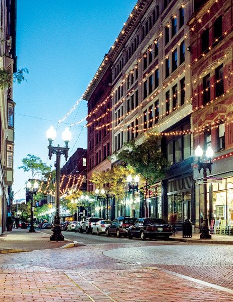 Westminster Street, in the heart of the city's reenergized downtown.