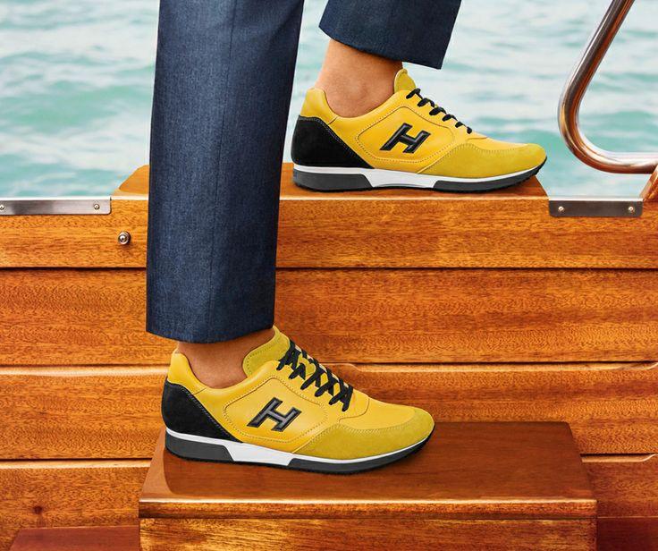 #HOGAN Men's H198 sneaker. Urban-chic appeal guaranteed.