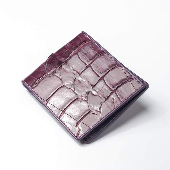 Crocodile Genuine Leather Men Bifold Tail Wallet Alligator Skin Real Purse Gifts