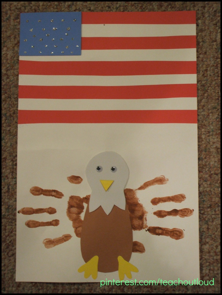Handprint Eagle; USA craft