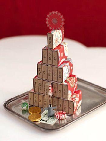 Mini Matchboxes advent calendar