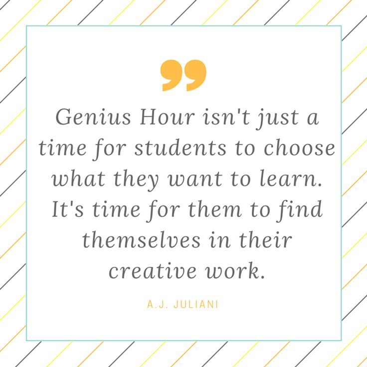 If you haven't heard of Genius Hour or 20% time in the classroom, the premise is simple: Give your students 20% of their class time (or an hour each week) to learn what they want. These projects allow students to choose the content and still acquire/master skills and hit academic starts. I've written extensively about Genius …
