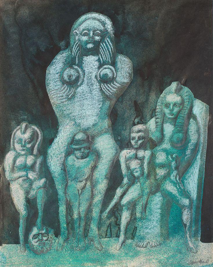 JAN LEBENSTEIN (1930 - 1999)   W PODZIEMIACH LUWRU, 1969