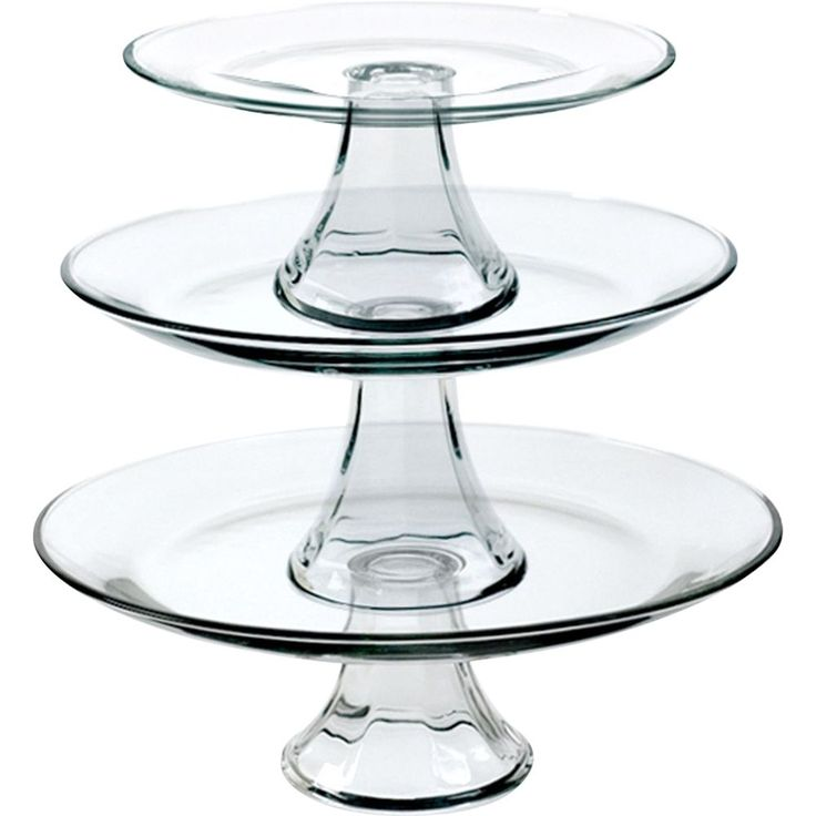 Anchor Hocking - 3-Piece Presence Tiered Platter Set - Clear