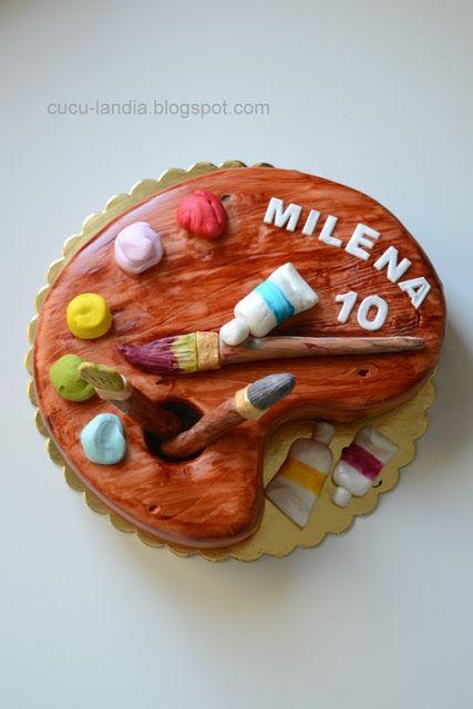 Cuculandia: TORT DLA MŁODEJ ARTYSKI art cake