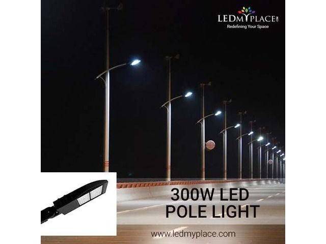 Install 300w Led Pole Light To Beautify The Outdoor Ambience Lights Led Installation
