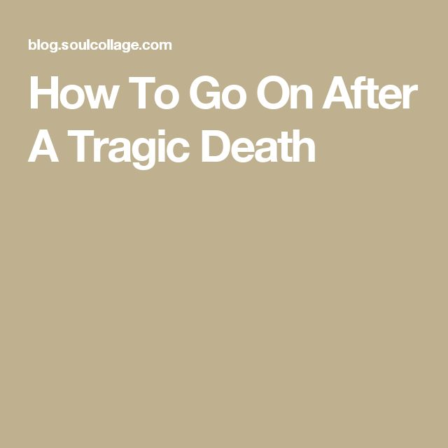 a tragic loss essay Need help with death essay i also think that experiencing a tragic loss during high school gives you the chance to show a college what you can do under these.