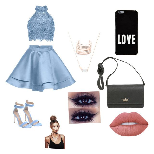 """""""Homecoming?"""" by izzyvb on Polyvore featuring Alyce Paris, Alexis Bittar, Kendra Scott, Givenchy, Kate Spade and Lime Crime"""