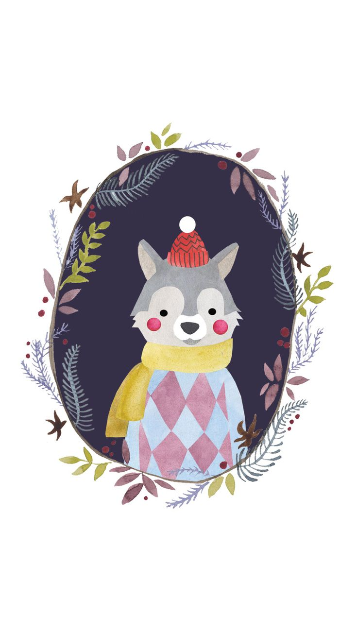 Free cute iphone winter wallpaper on simplebeyond.com