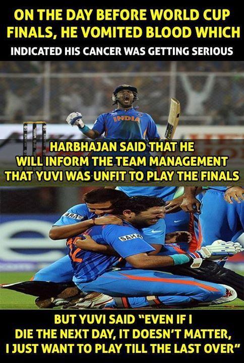 Yuvraj Singh is a CHAMPION! - http://ift.tt/1ZZ3e4d