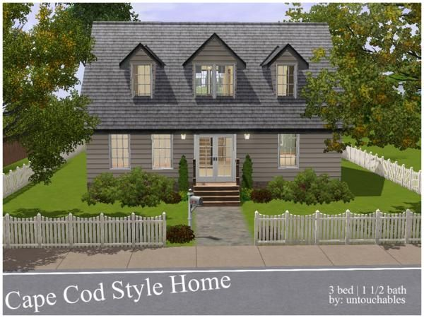 17 best images about sims building inspiration on for Cape cod builder