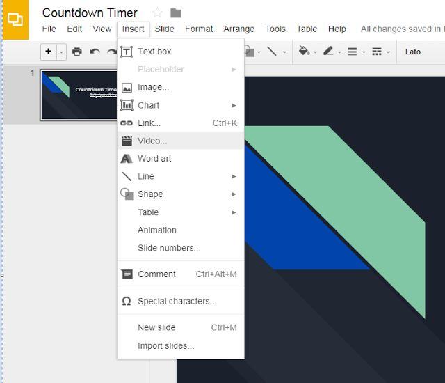 how to add slide timers in google slides