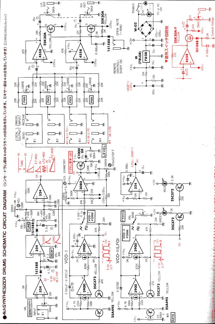 Drum Synth Schematic Electronics Mini Projects Electronic Schematics Electronics Circuit