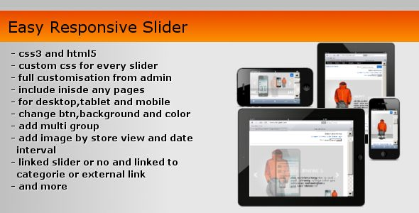 Easy Responsive Slider . Dream Responsive