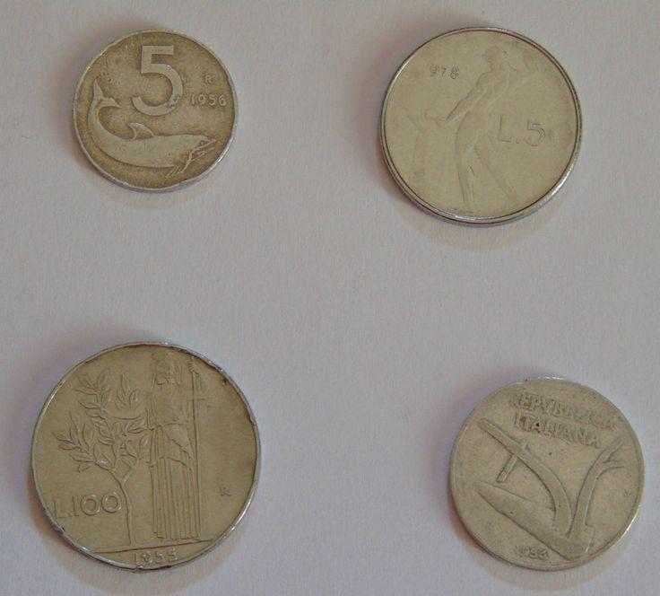 50 Lire Vulcano 1978 errore di conio  100 £ 1955/ 10 £ 1954/ 5 LIRE 1956