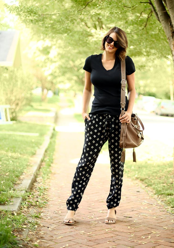 How to style soft pants (so they don't look like pajamas!) via What I Wore