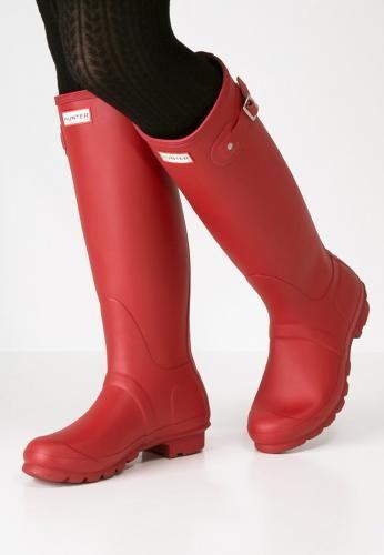 #Hunter stivali di gomma military red Rosso  ad Euro 125.00 in #Hunter #Donna premium scarpe stivali