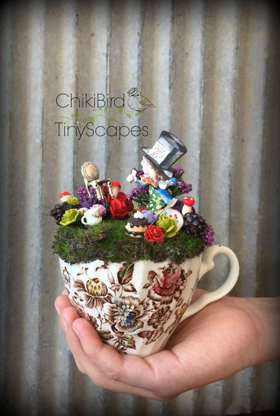 ... Tea Cup Fairy Gardens on Pinterest | Gardens, Mad hatter tea and Mad