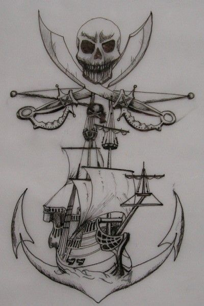Pirate Tattoo Design by ~MissBlys on deviantART