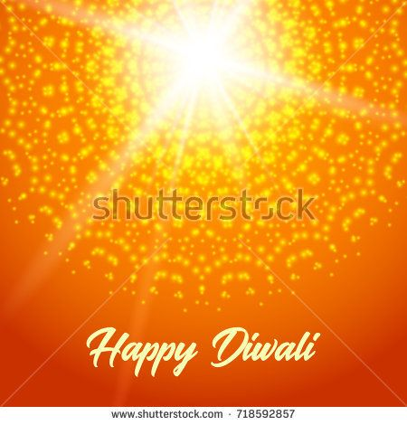 Sunny rangoli. Happy diwali vector greeting card