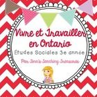 $ Grade 3 Social Studies for NEW Ontario Curriculum: Living and Working in Ontario *Note!! All activities for student use (including reading passage...