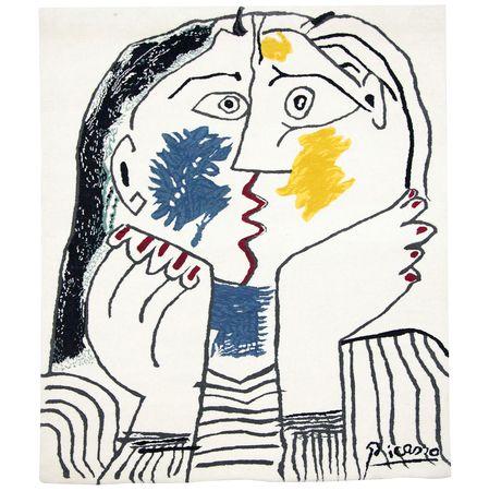 """Picasso Wandteppich - """"Der Kuss"""""""