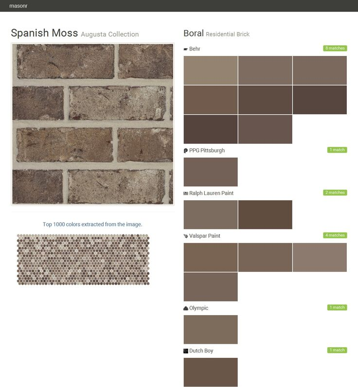 Spanish Moss Augusta Collection Residential Brick Boral Olympic Behr Ppg Paints Ralph