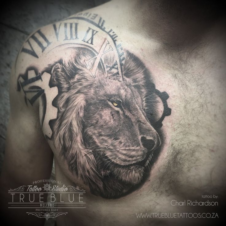 """Lion"" by Charl Richardson of True Blue Professional Tattoo Studio"