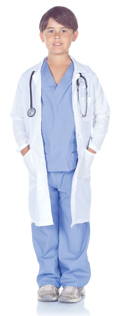 Watch as your home transforms into a hospital practice when your aspiring MD suits up in our Doctor Scrubs Kids Costume. Boys and girls will appreciate the realism of these authentic medical field garments. Our kids Doctor Scrubs Costume include a traditional blue scrubs shirt, matching pants and a white lab coat with chest and waist pockets. Pretend play will have them caring for stuffed animals and toys that require medical attention. Saving lives and making the sick better will be your…