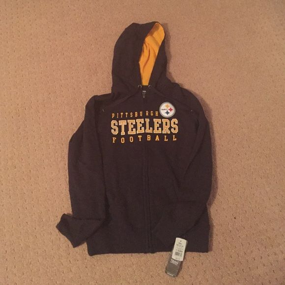 Pittsburgh Steelers Jacket Zip up steelers jacket. Got as a gift and just don't wear, so calling all fellow steelers fan. Stay warm the rest of the winter and support the best football team :) Steelers Jackets & Coats