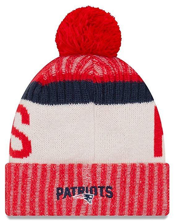 Amazon.com  NFL New England Patriots Adult Men Cold Weather Reverse Team Sport  Knit Beanie 0f3bb6065