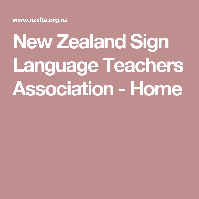 New Zealand Sign Language Teachers Association - Home