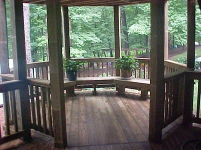 Deck Gazebo with Built-In Benches