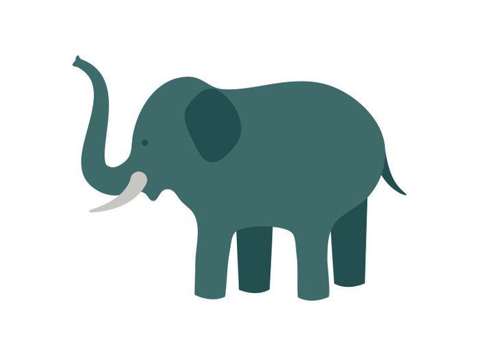 Elephant Flat Vector