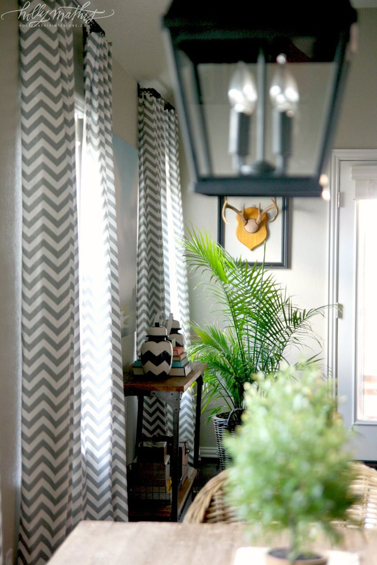 Yellow chevron kitchen curtains - Williams Home Holly Mathis Interiors I Love These Curtains