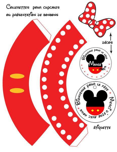 Cupcakes Minnie and Mickey