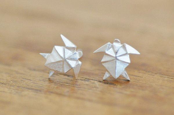 Origami Turtle Earrings ~ Jamber Jewels Best Seller!