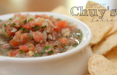 My favorite salsa!!! Couldn't be easier to make this Chuy's copycat at home- so fresh and dippable!! #SuperBowl #Snack #Mexican