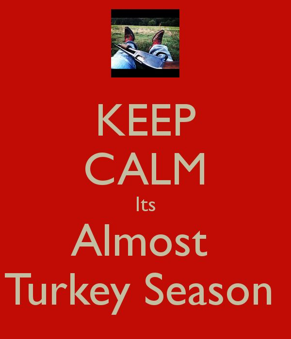 KEEP CALM Its Almost Turkey Season