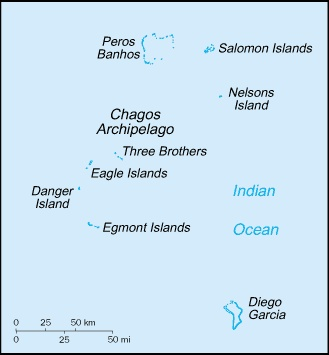 The British Indian Ocean Territory or Chagos Islands is an overseas territory of the United Kingdom situated in the Indian Ocean halfway between Africa and Indonesia.