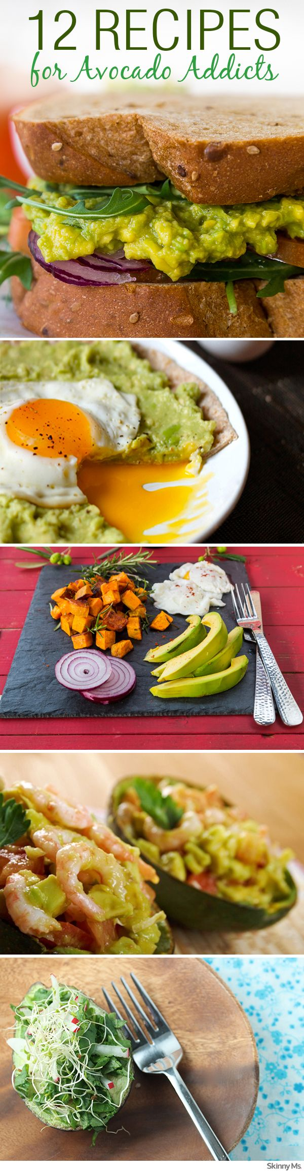 12 different ways for avocado addicts to get a fix! #recipes