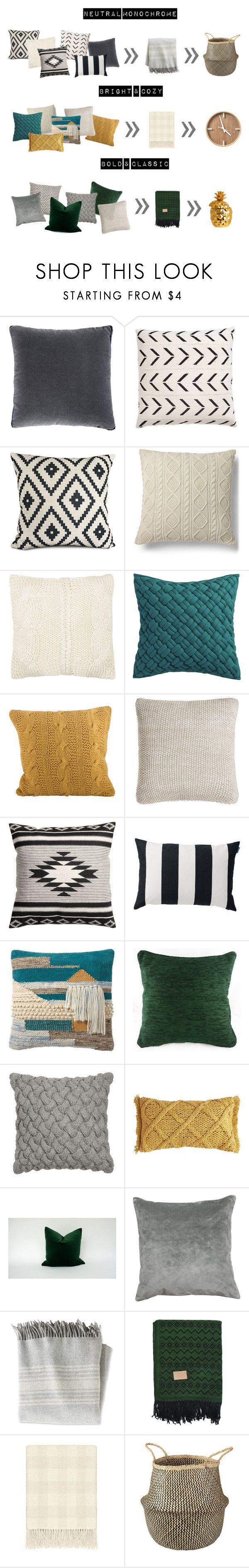Fall pillow combinations by rowanmorrissy4 on Polyvore featuring interior, interiors, interior design, home, home decor, interior decorating, L.L.Bean, Kevin O'Brien, Sferra and Ethan Allen
