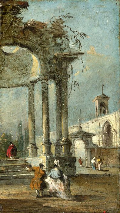 Caprice View With Ruins Francesco Guardi