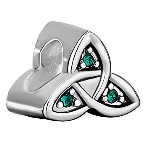 Pugster Celtic Claddagh Irish May Birthstone Green Crystal Beads Fit Pandora  Charms Bracelet Pugster http: