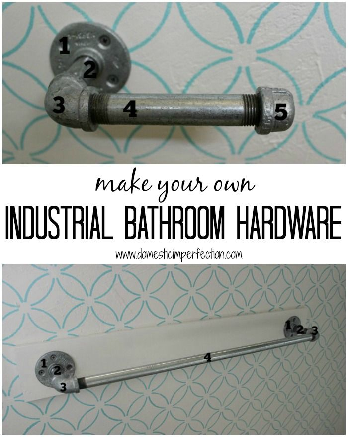 Make your own toilet paper holder, towel bar, and shower curtain rod (includes detailed shopping list)