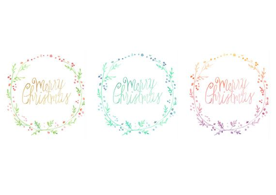 Merry Christmas Cards. Pack of 6 for $16 New Zealand.   Clip art vector clipart botanical boho hippie hipster quote love woodland native nature leaf typography painting watercolor water colour New Zealand delicate minimal Hawaii cute nice girly wedding invitation gift caring diy craft etsy greeting wreath