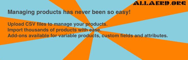 Woocommerce CSV importer Import products into woocommerce.