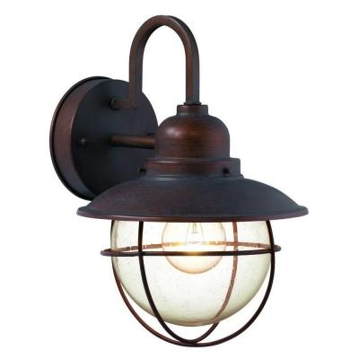 Hampton Bay 1 Light Brick Patina Outdoor Cottage Lantern